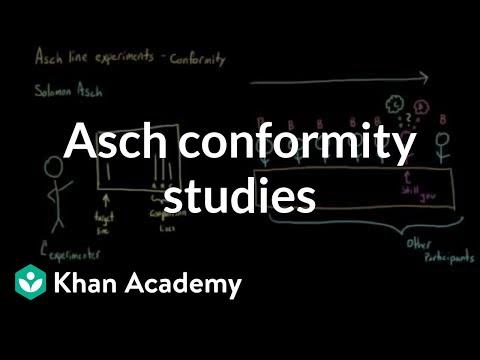 Asch conformity studies (Asch line studies) | Behavior | MCAT | Khan Academy