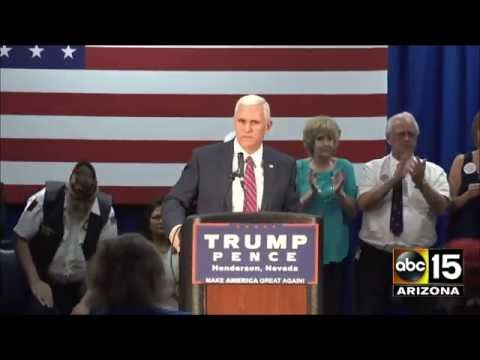 FULL Q&A: Gov. Mike Pence in Henderson, Nevada - Talks Sharia Law