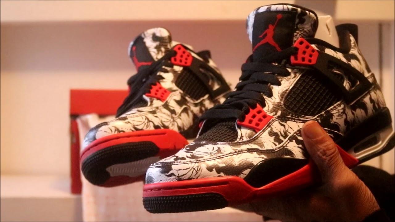 watch e3155 4df8b Air Jordan 4 Tattoo On Feet Review