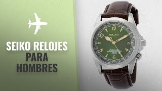 10 Mejores Ventas De Seiko: Seiko Men's ' Japanese Automatic Stainless Steel and Leather Casual