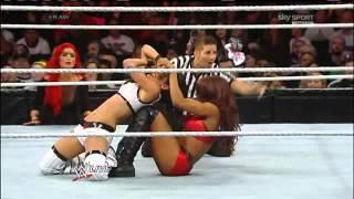 فريق نكي وبري بيللا وكاميرون ضد اي جي وفوكس وأكسانا(مجموعة محبى المصارعه Wrestling Lovers Group