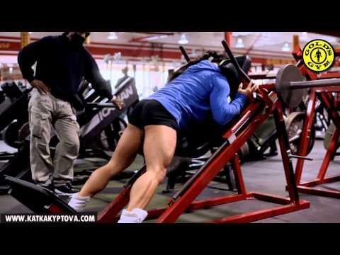 Charles Glass and Katka Kyptova - Legs workout