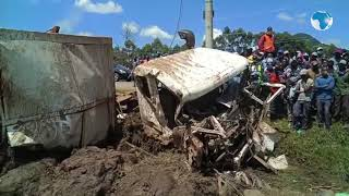 Five killed in a grisly road accident involving a truck and six other vehicles in Londiani, Kericho