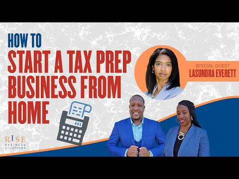 How to Start a Tax Preparation Business from HOME. -Tax Training-