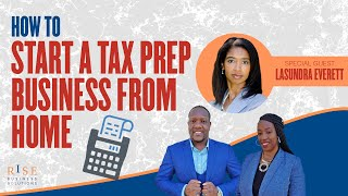How to Start a Tax Preparation Business from HOME. Tax Preparer Training.