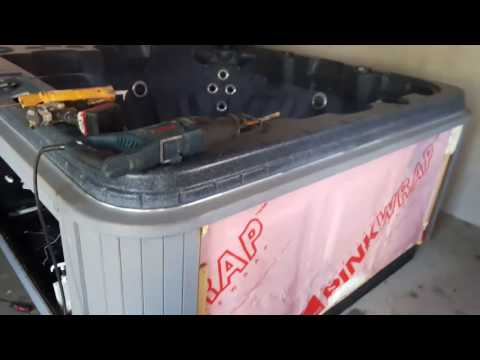DIY hot tub leak repair