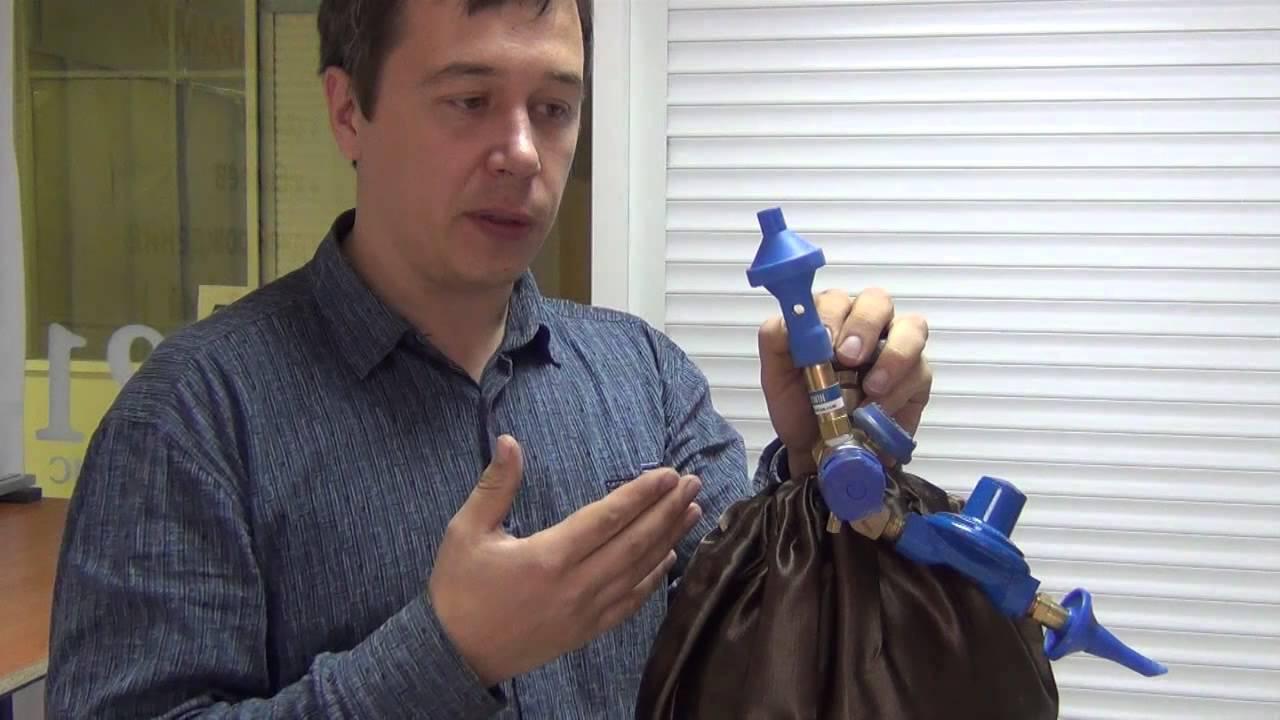 Измерение давления газа гелия. Быстросъемным манометром. - YouTube