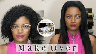 32 Inch SEW IN WEAVE using SL Raw Virgin Hair | Makeover #11| Feat. Young Head Beats | Los Angeles