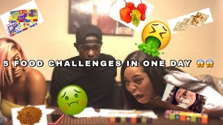 5 FOOD CHALLENGES IN ONE DAY!!! ***CAUTION VERY FUNNY*** |FT CHELSEA BROWN , NOVA'S DAD & GOD DAD|