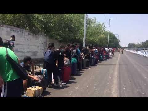 Chakma migrants workers of Arunachal Pradesh returning from Tamil Nadu