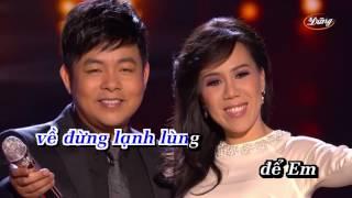 KaraOke Chuyện Người Đan Áo   Quang Lê & Mai Thiên Vân   Full Beat  