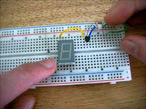 How to control a 7 segment LED display