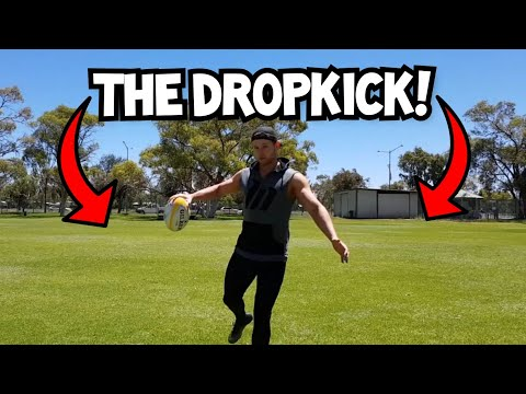 How to do a Drop Kick | Rugby Skills Tutorial thumbnail