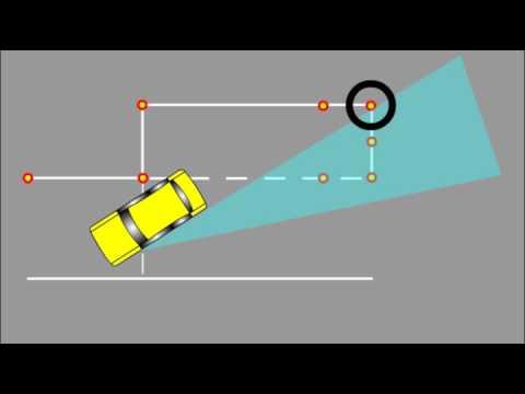 Как делать параллельную парковку на площадке видео