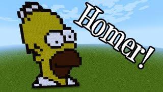 Tutoriais Minecraft: Como Fazer Pixel Art do Homer