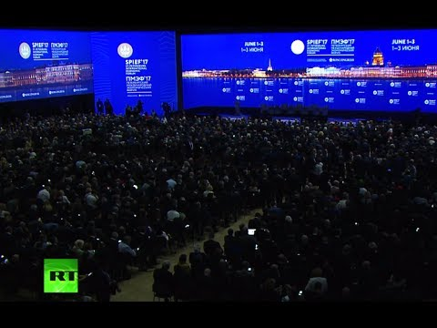 Putin takes part in plenary session of 21st  St. Petersburg International Economic Forum