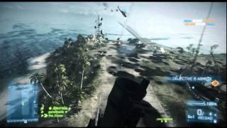 Battlefield 3 Wake Island Spawn Beacon Kill With SMAW