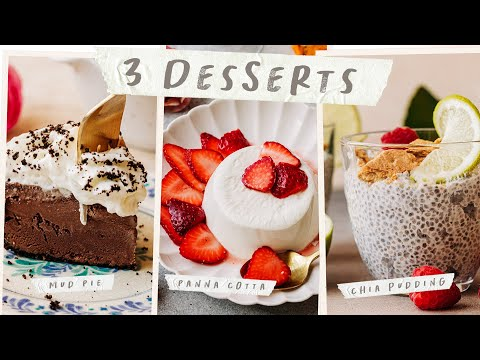 3 NO BAKE DESSERTS - Incredibly EASY No-Bake Dessert Ideas