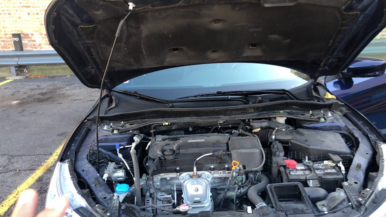 Air Filter And Air Intake Location In A Honda Accord Youtube