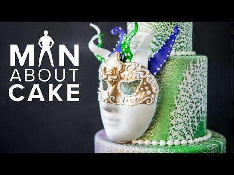 MARDI GRAS Mask Cake   Man About Cake with Joshua John Russell