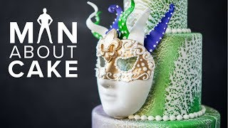 MARDI GRAS Mask Cake | Man About Cake with Joshua John Russell