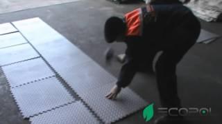 Монтаж плитки ПВХ(На видео Вы можете увидеть как быстро монтировать плитку ПВХ