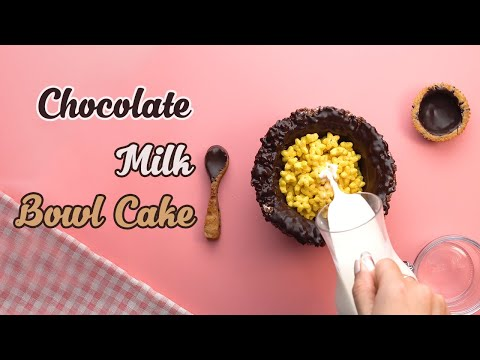 Chocolate Milk Bowl cake Decorating Ideas   Best of Cake