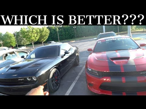 MANUAL HELLCAT OWNER DRIVES MY AUTO HELLCAT **HE WANTS ONE NOW**
