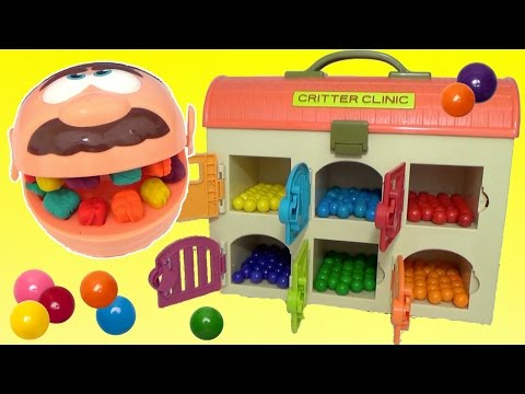 Thumbnail: Play-doh Doctor Drill n Fill Rotten Teeth Learn Colors Gumballs Candy Color Change Surprises TUYC