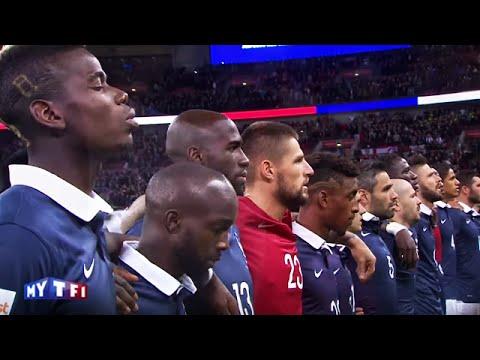 La Marseillaise chantée par le stade de Wembley - Angleterre vs France (2 - 0)