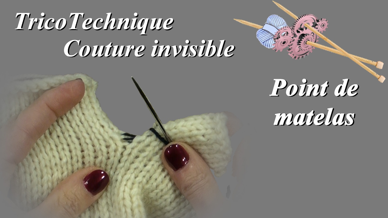 Couture Invisible Au Point De Matelas Youtube
