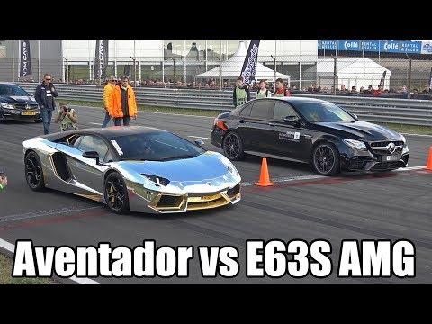 Mercedes-AMG E63S Sedan vs Ferrari F12 vs Lamborghini Aventador
