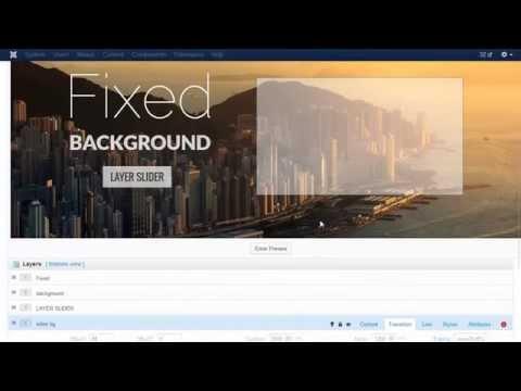 Layer Slider For Joomla! Tutorial - Fixed Background Slider