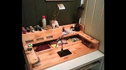 How I made my fly tying station in 4 minutes 46 seconds :)