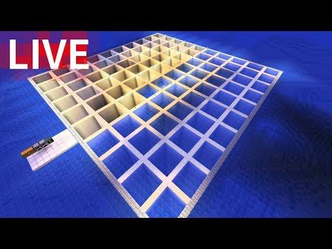 Minecraft Live 海底神殿水抜きとサボテン収穫機! - YouTube