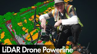 LiDAR Drone Powerline Inspection | ROCK R2A | DJI M210
