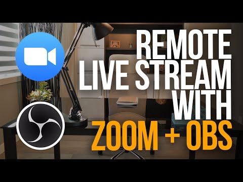 HOW TO LIVE STREAM MULTIPLE PEOPLE WITH ZOOM AND OBS