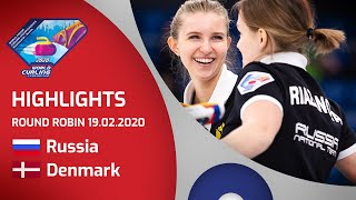 HIGHLIGHTS: Russia v Denmark - Women's round robin - World Junior Curling Championships 2020