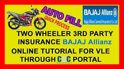 BAGI | HOW TO | AUTO FILL | BAJAJ | TWO WHEELER 3RD PARTY INSURANCE ONLINE | THROUGH CSC PORTAL