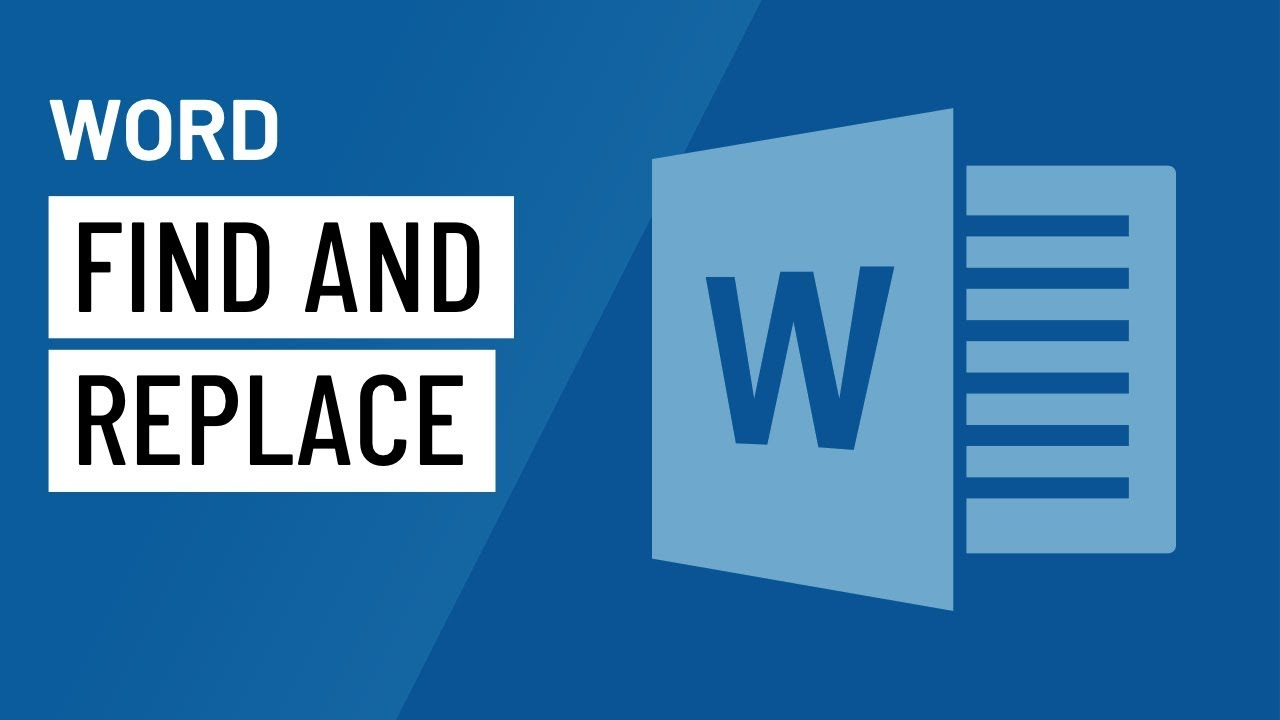 Word: Using Find and Replace