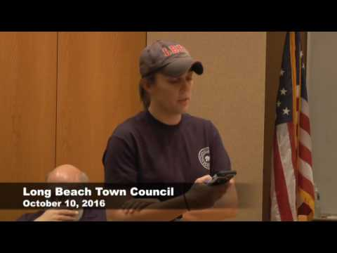 Long Beach, Indiana Town Council Meeting  10-10-2016