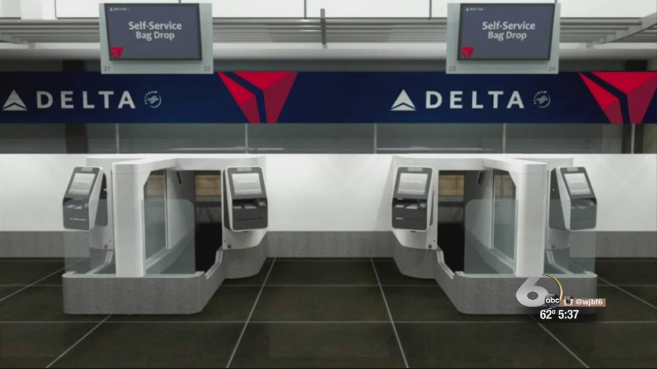 Delta Airlines self-service baggage drop