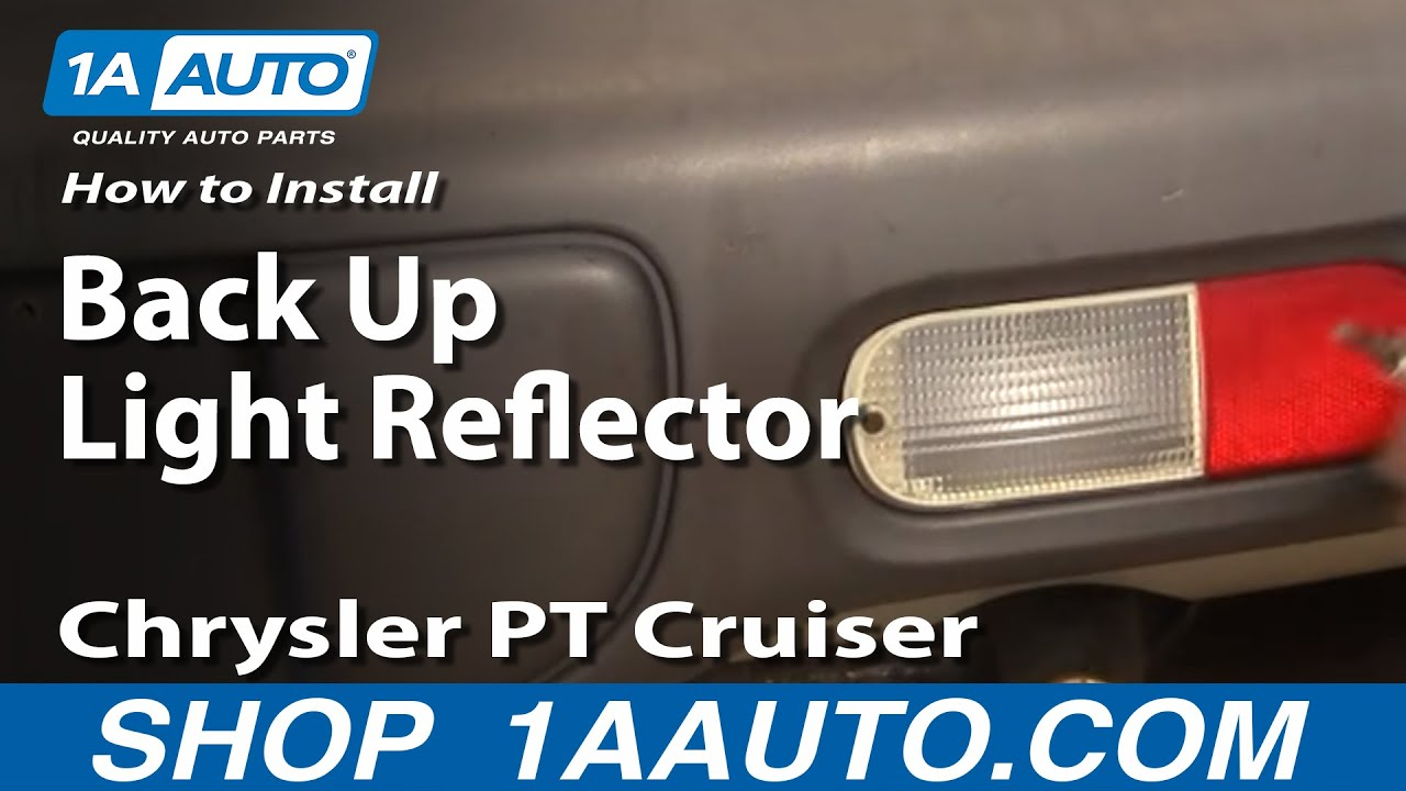 maxresdefault how to install repair replace rear back up light reflector 2003 PT Cruiser Wiring-Diagram at bayanpartner.co