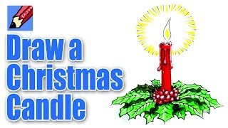 How to draw a Christmas Candle Decoration