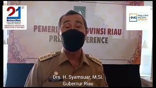 Ucapan Selamat Ulang Tahun Haluan Riau ke-21 dari Gubernur Riau