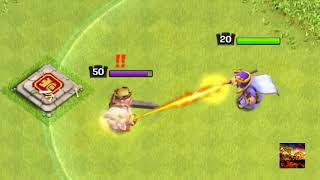 Clash of Clans   Level 50 Barbarian King vs All Troops