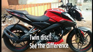 New Pulsar NS160 Twin Disc || New changes|| Good and bad sides full review||Exhaust ||Mileage