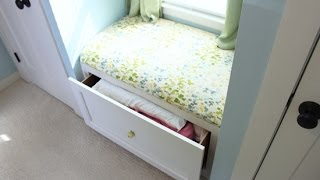 Full details and how-to on my blog! http://checkinginwithchelsea.com/video/built-in-window-seat/ After determining your