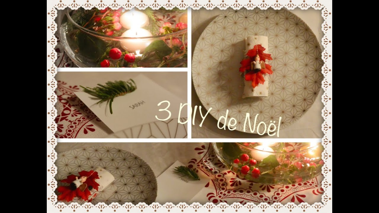 Diy d coration table de no l youtube for Decor table de noel