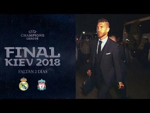 Llegada del REAL MADRID al HOTEL Opera de KIEV   FINAL CHAMPIONS (24/05/2018)